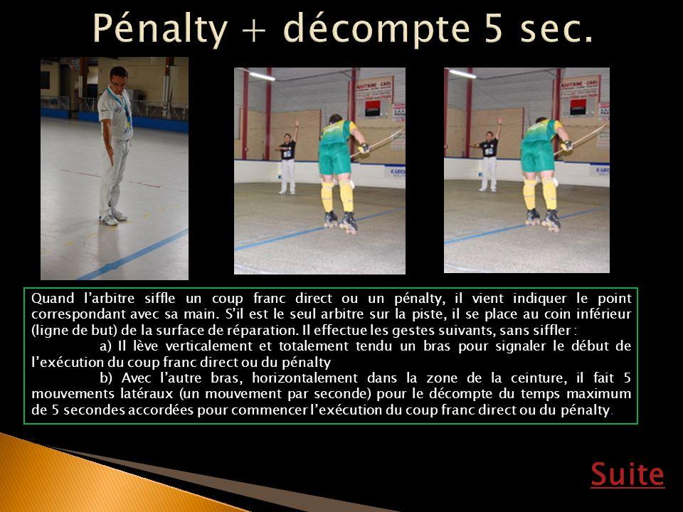 Pénalty + décompte 5 sec. Suite