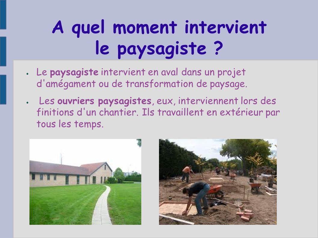 Visite d 39 un chantier de construction ppt t l charger for Les paysagistes