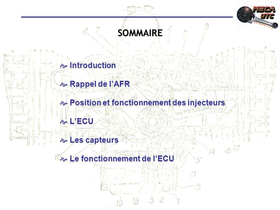 SOMMAIRE Introduction Rappel de l'AFR