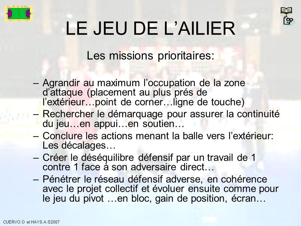 Les missions prioritaires: