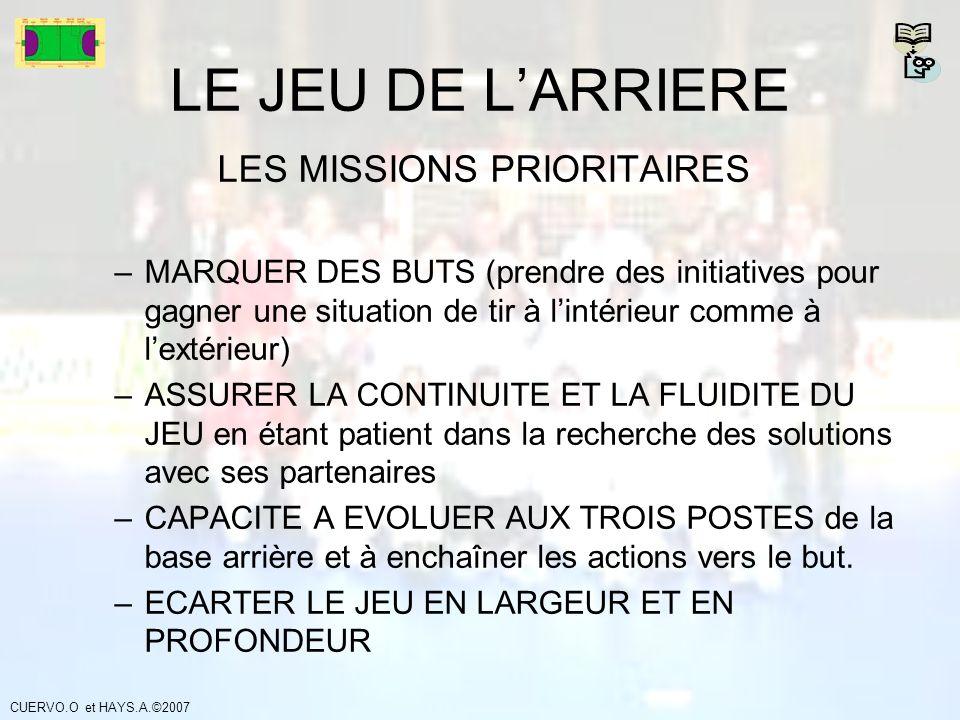 LES MISSIONS PRIORITAIRES