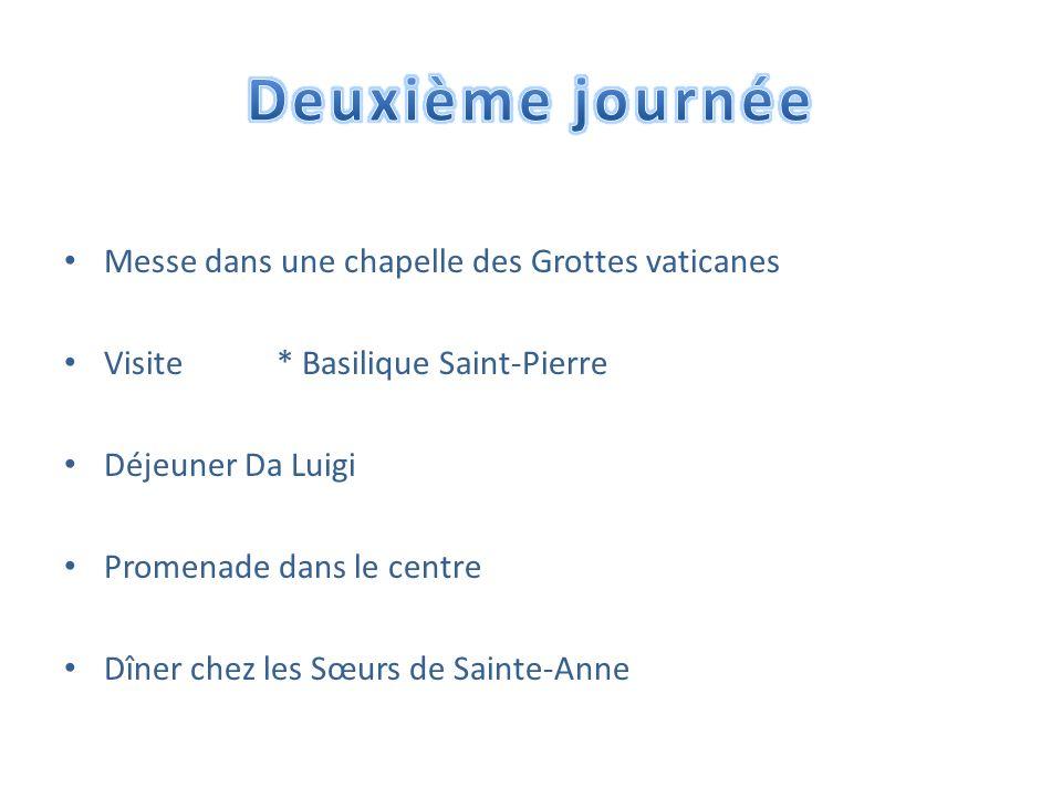 Deuxième journée Messe dans une chapelle des Grottes vaticanes