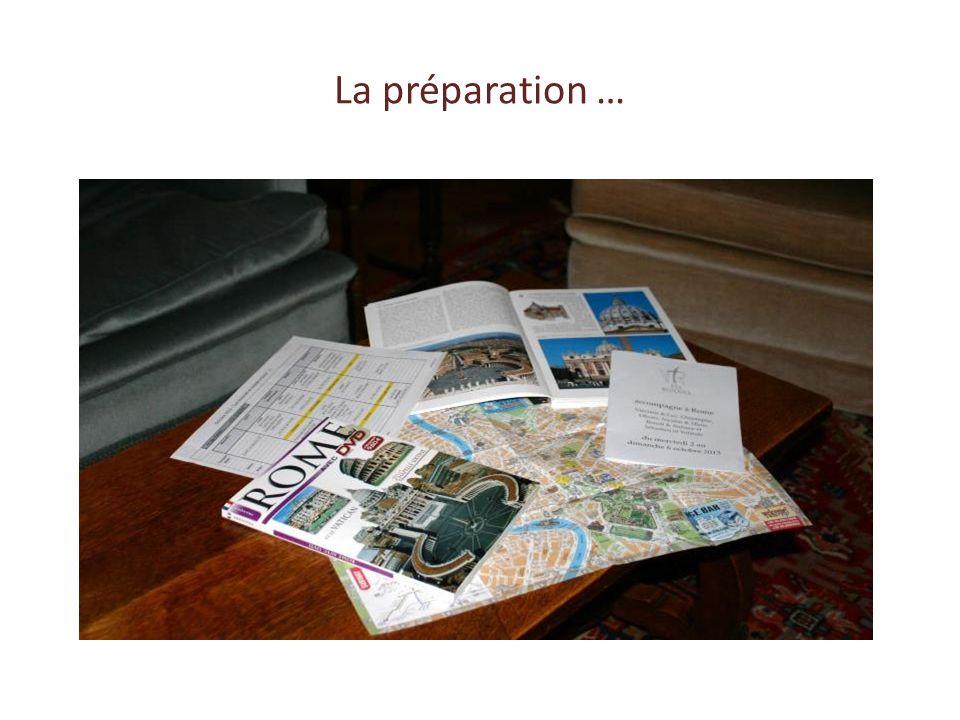 La préparation …