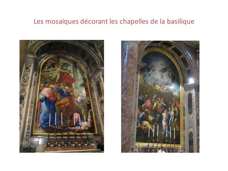 Les mosaïques décorant les chapelles de la basilique