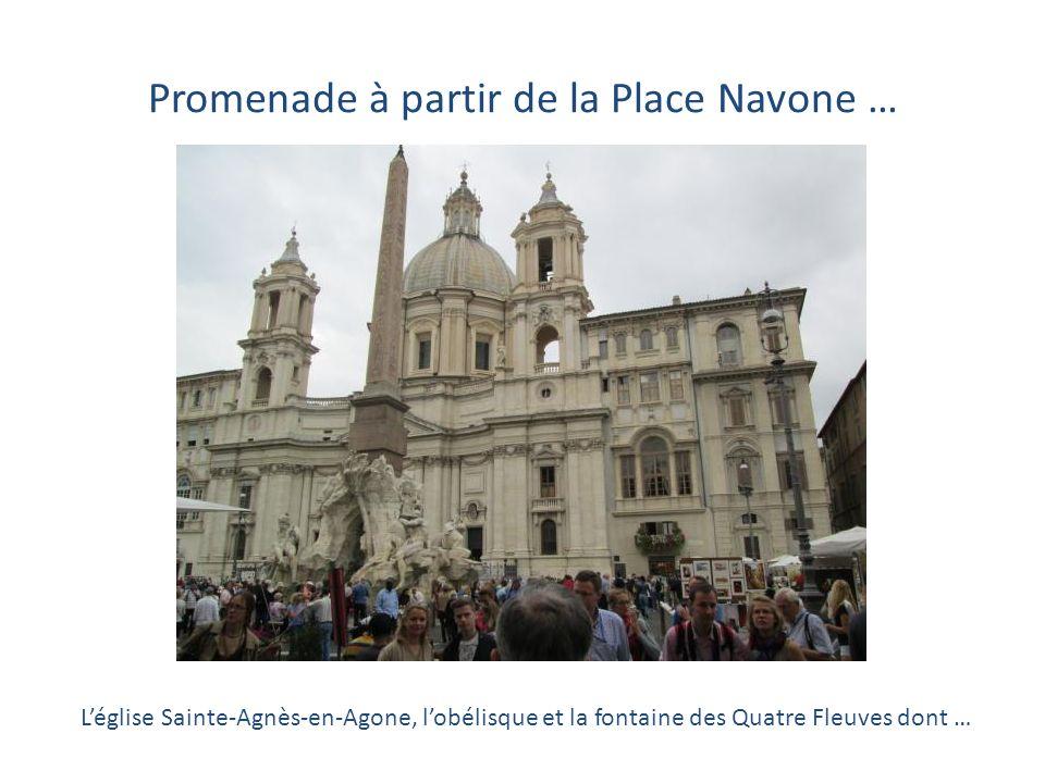 Promenade à partir de la Place Navone …
