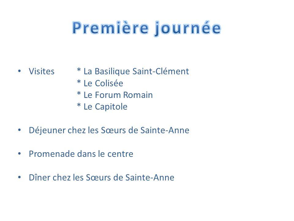 Première journée Visites * La Basilique Saint-Clément * Le Colisée