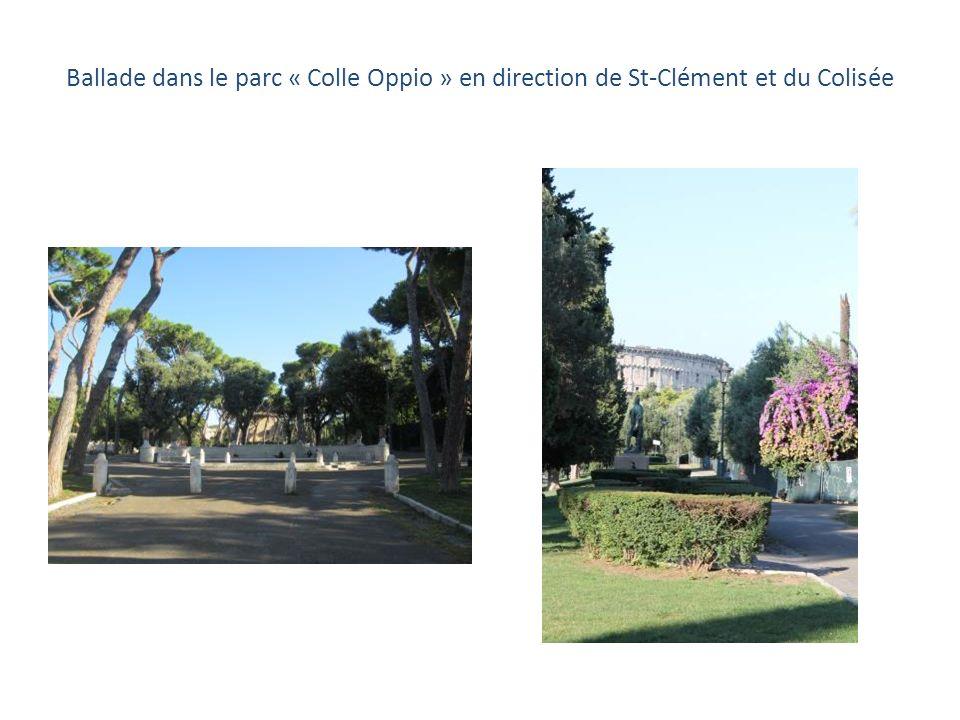Ballade dans le parc « Colle Oppio » en direction de St-Clément et du Colisée