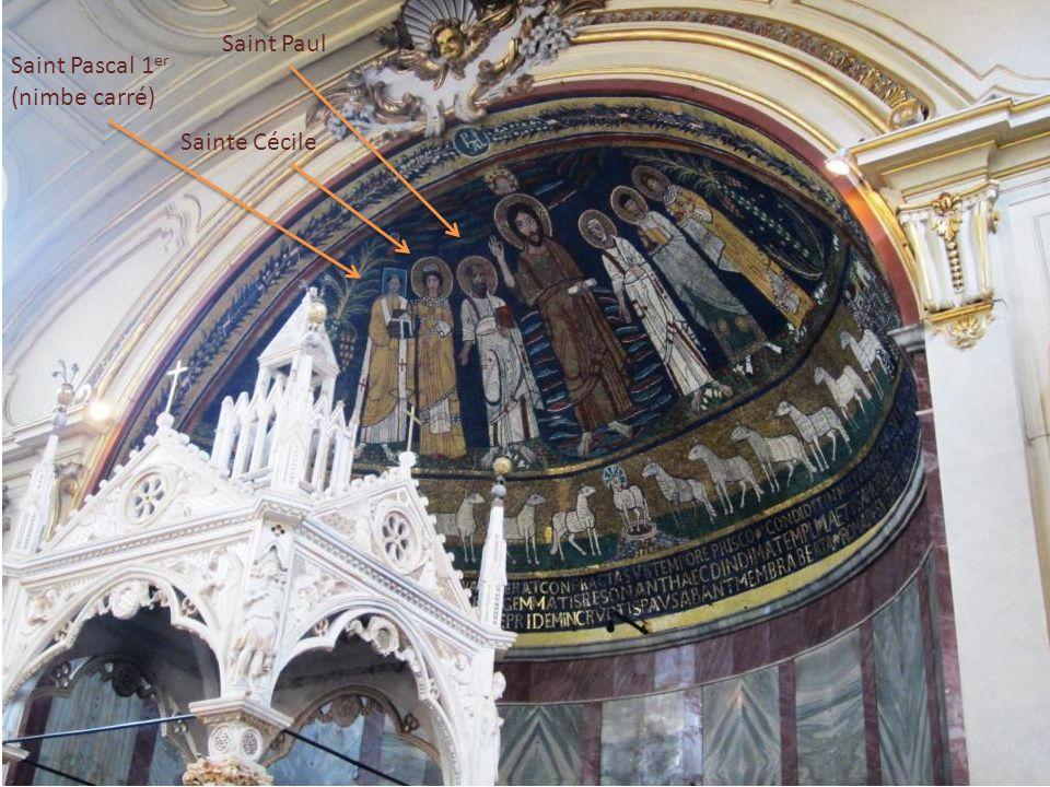 Saint Paul Saint Pascal 1er (nimbe carré) Sainte Cécile