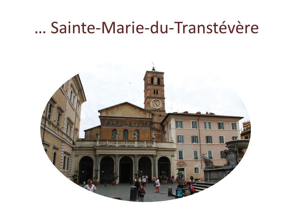 … Sainte-Marie-du-Transtévère
