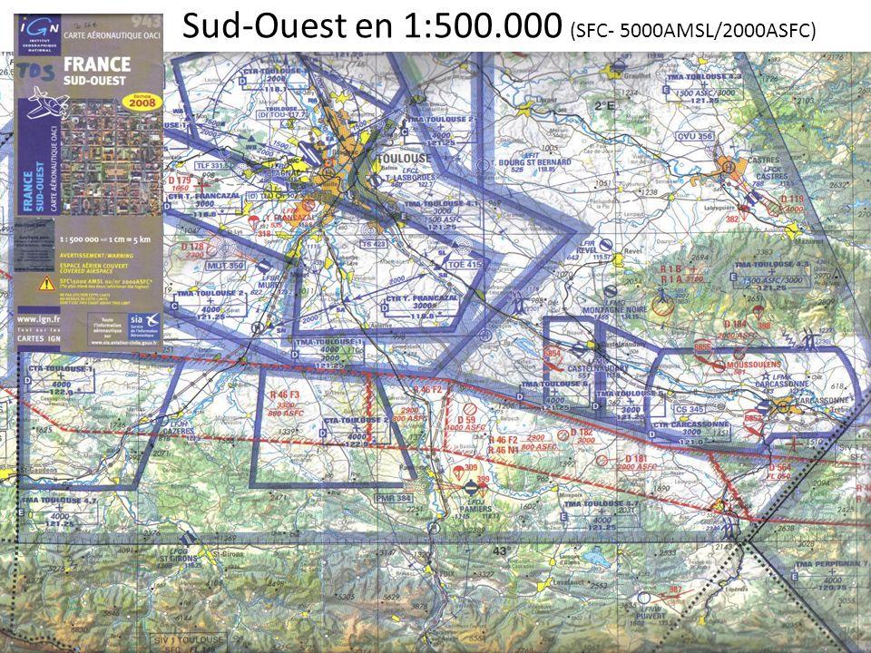 Sud-Ouest en 1:500.000 (SFC- 5000AMSL/2000ASFC)