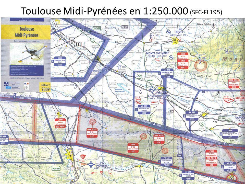 Toulouse Midi-Pyrénées en 1:250.000 (SFC-FL195)