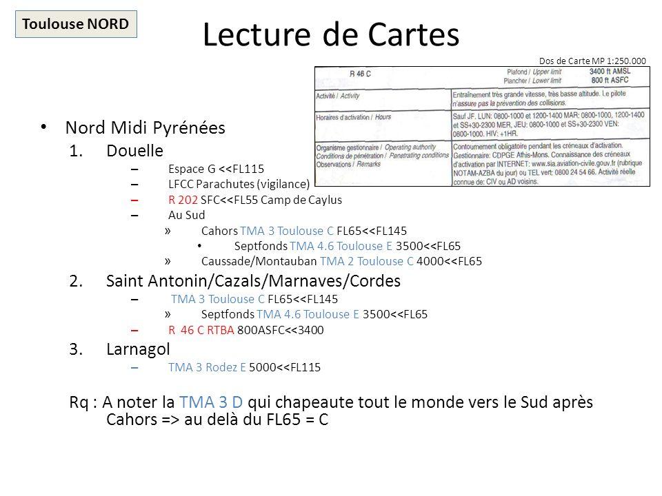 Lecture de Cartes Nord Midi Pyrénées Douelle