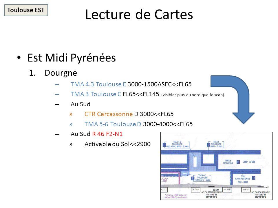 Lecture de Cartes Est Midi Pyrénées Dourgne Toulouse EST