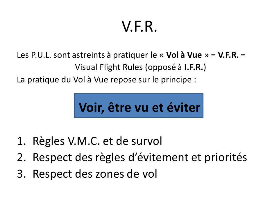 Visual Flight Rules (opposé à I.F.R.)