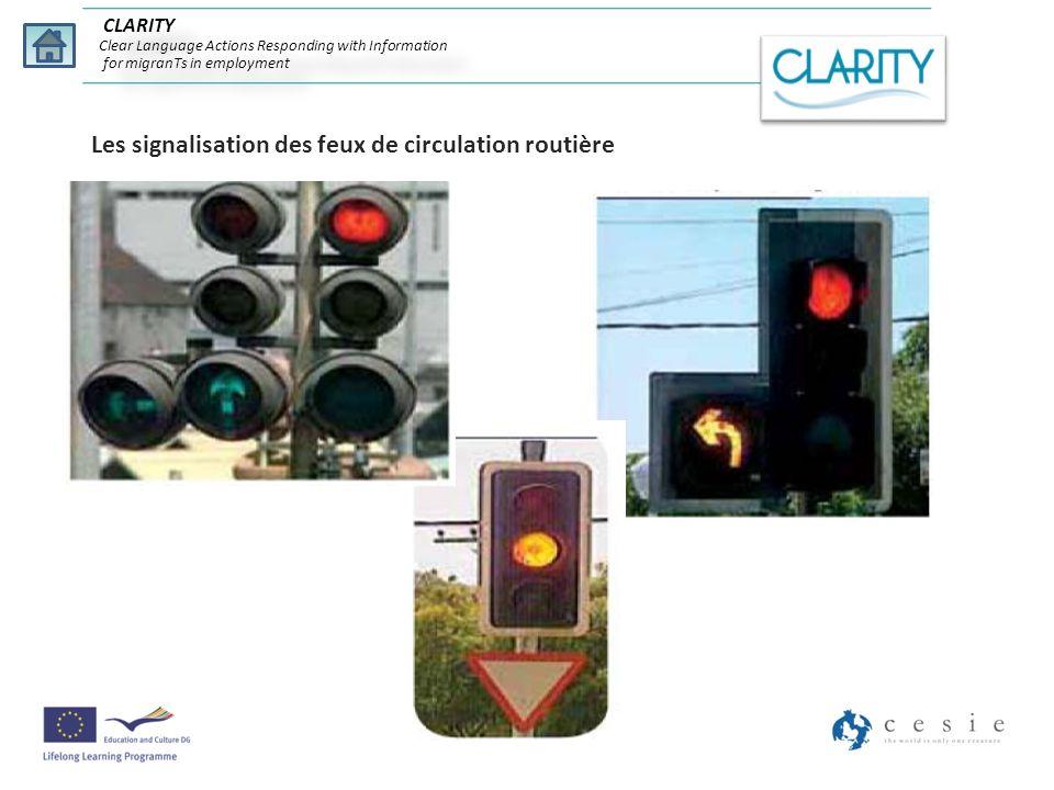 Les signalisation des feux de circulation routière