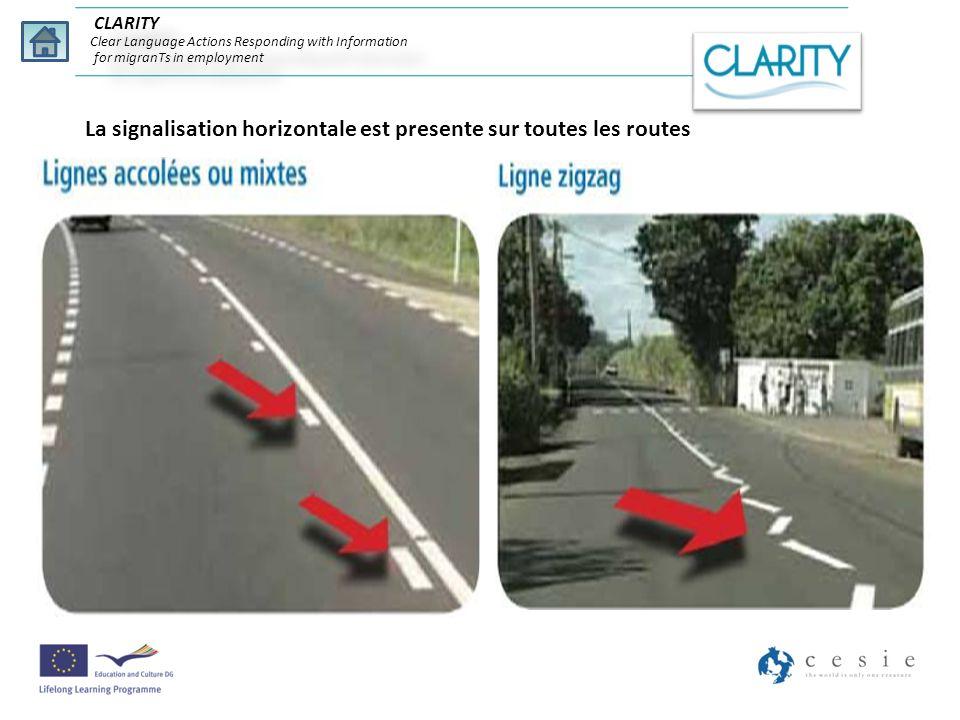 La signalisation horizontale est presente sur toutes les routes