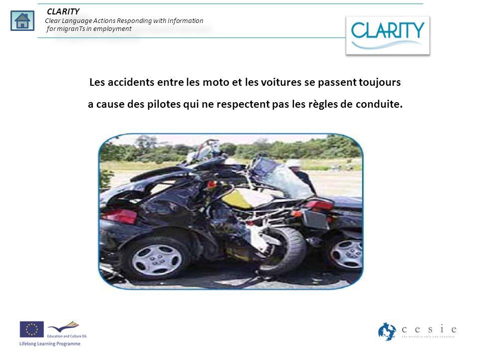Les accidents entre les moto et les voitures se passent toujours