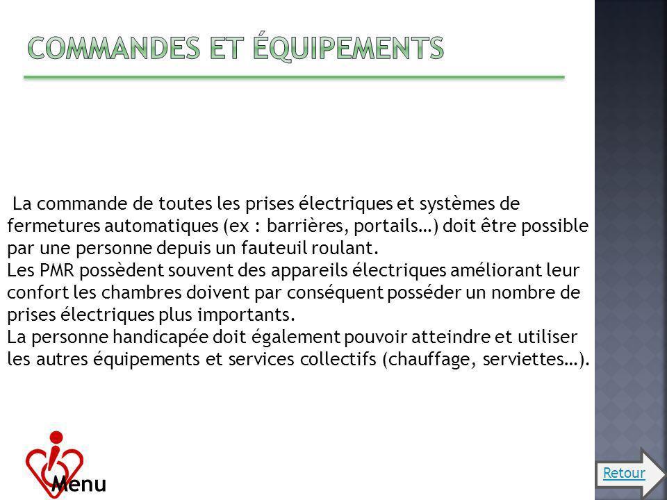 Commandes et équipements