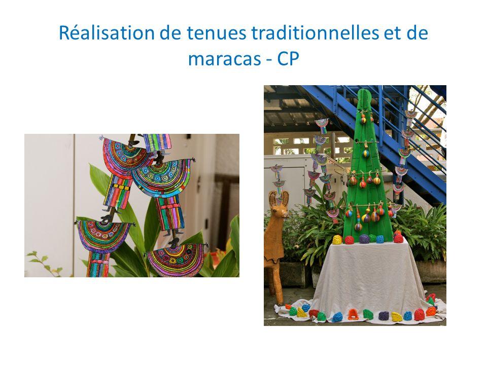 Réalisation de tenues traditionnelles et de maracas - CP