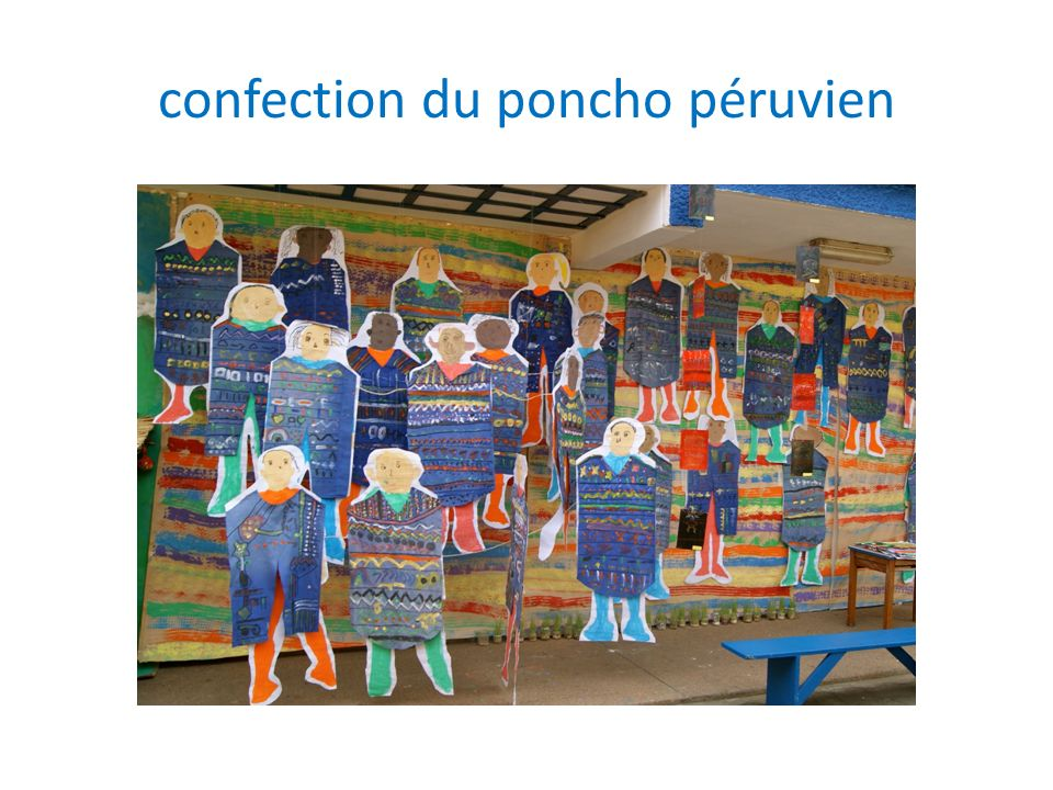 confection du poncho péruvien