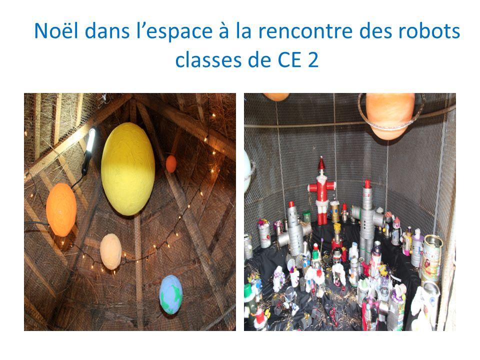 Noël dans l'espace à la rencontre des robots classes de CE 2