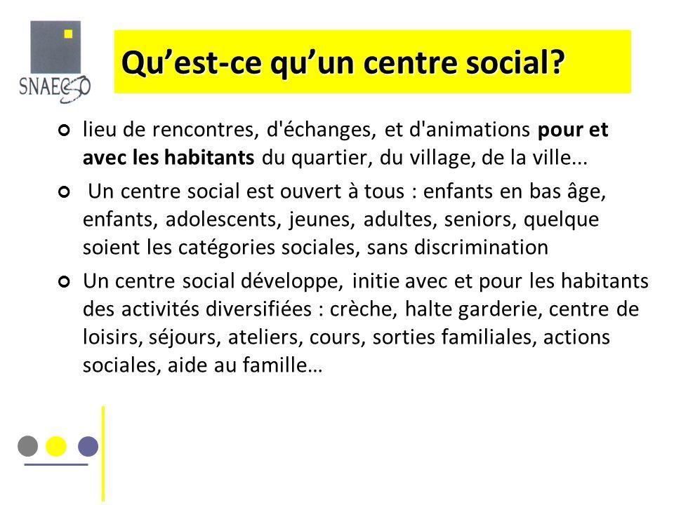Qu'est-ce qu'un centre social