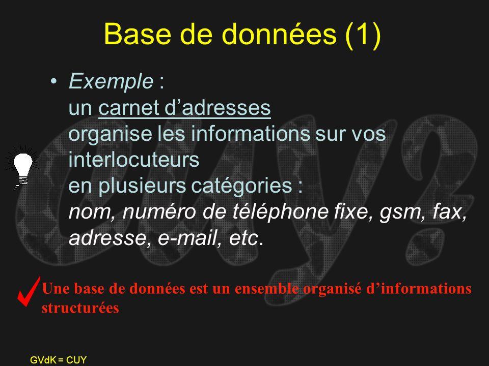 Base de données (1)