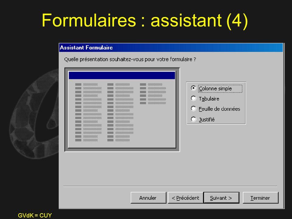Formulaires : assistant (4)