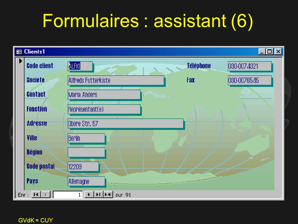 Formulaires : assistant (6)