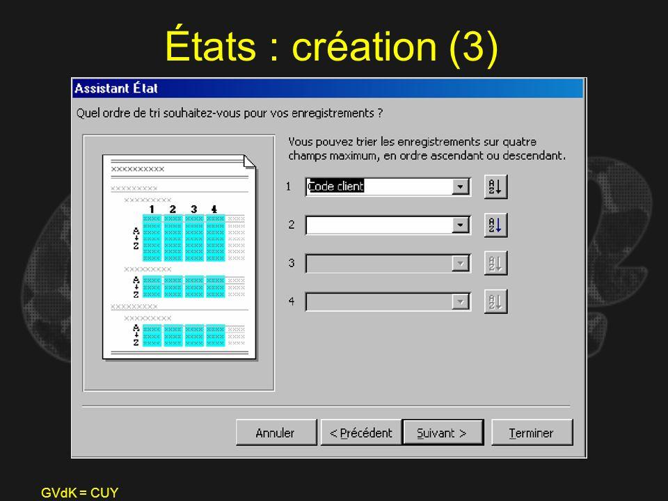 États : création (3) GVdK = CUY