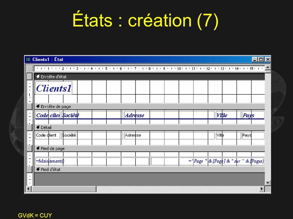 États : création (7) GVdK = CUY