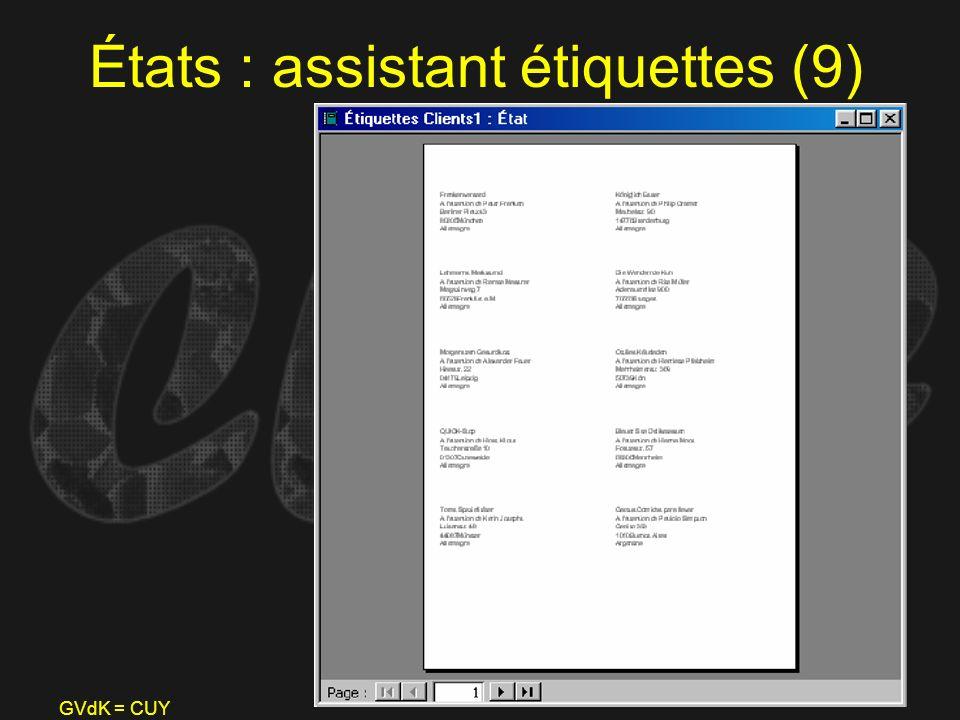 États : assistant étiquettes (9)
