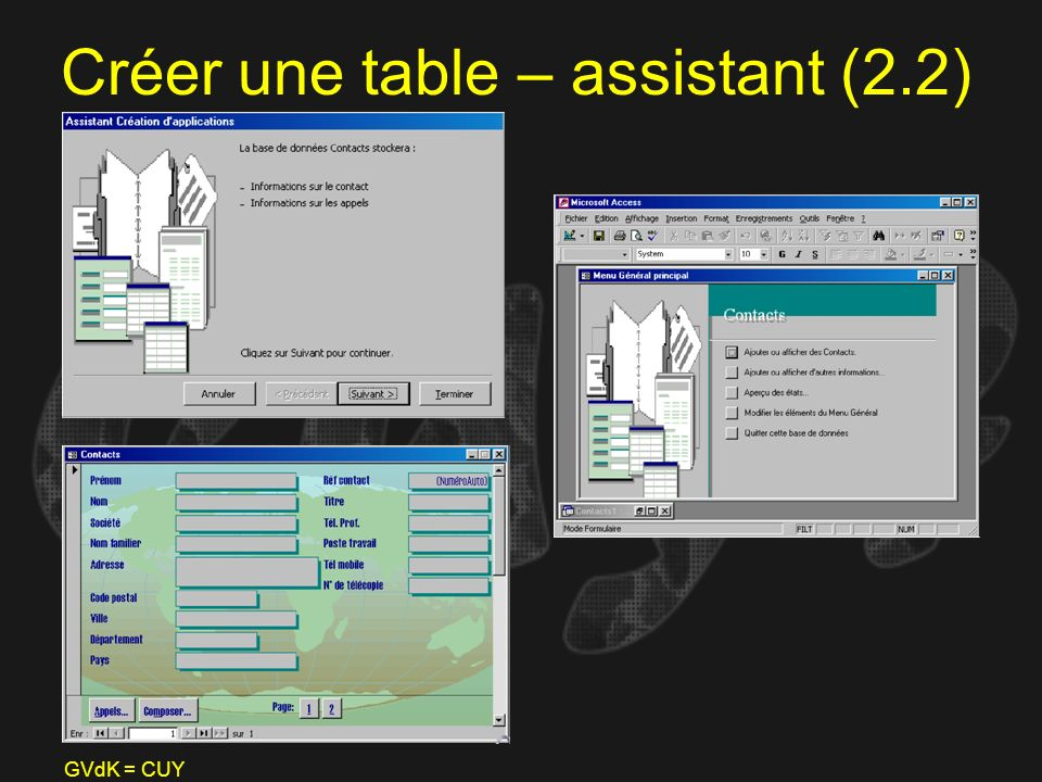 Créer une table – assistant (2.2)