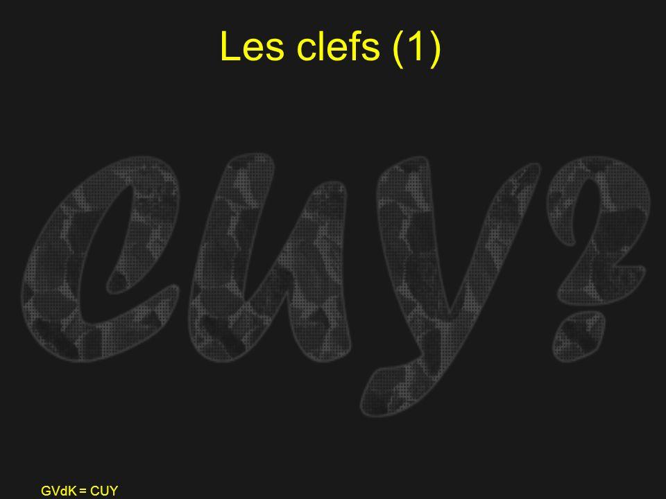Les clefs (1) GVdK = CUY