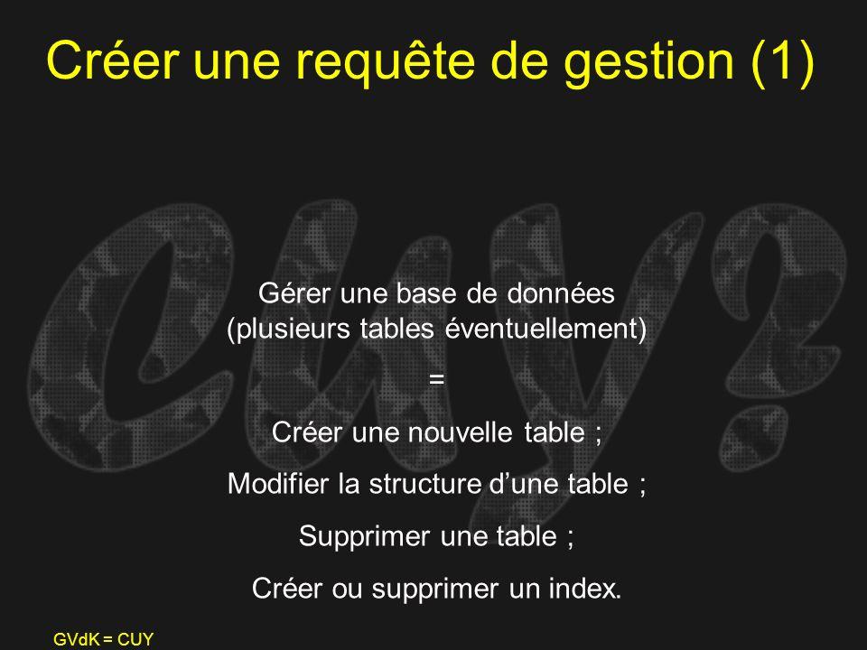 Créer une requête de gestion (1)