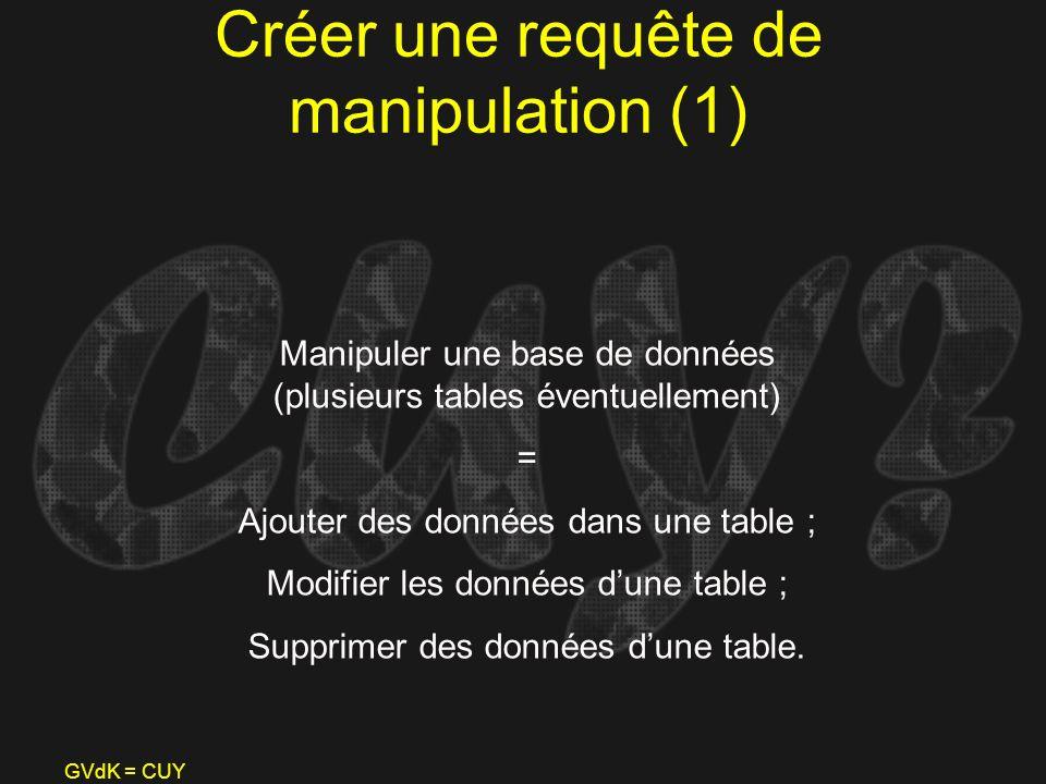 Créer une requête de manipulation (1)