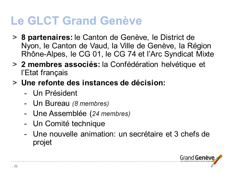 Le GLCT Grand Genève