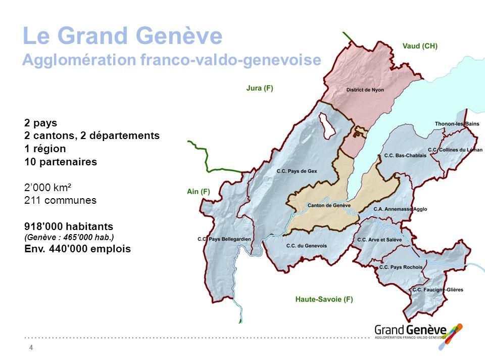 Le Grand Genève Agglomération franco-valdo-genevoise 2 pays