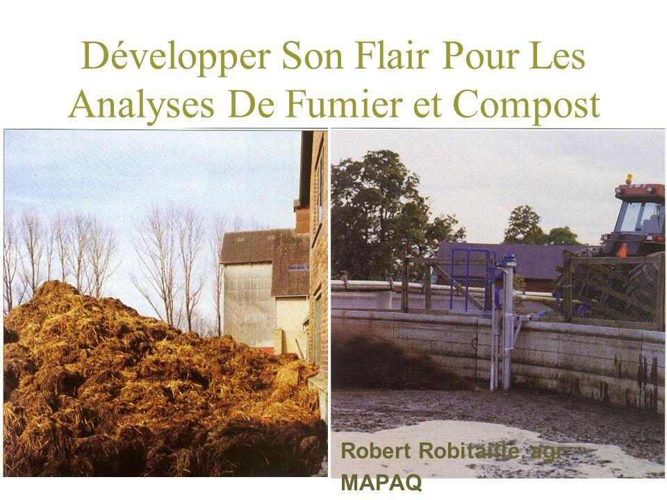 Développer Son Flair Pour Les Analyses De Fumier et Compost