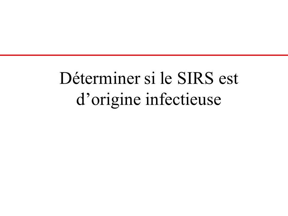 Déterminer si le SIRS est d'origine infectieuse