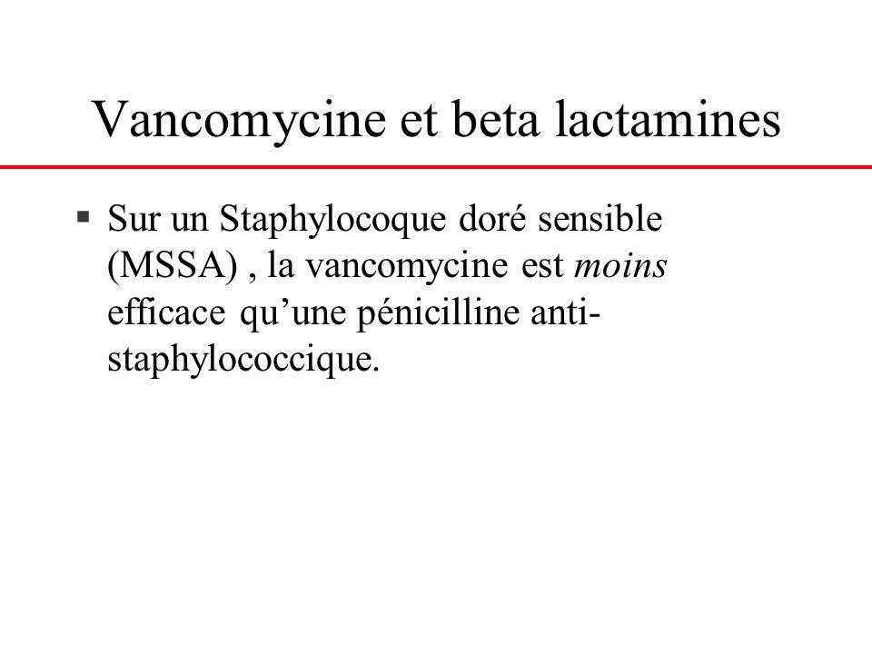 Vancomycine et beta lactamines
