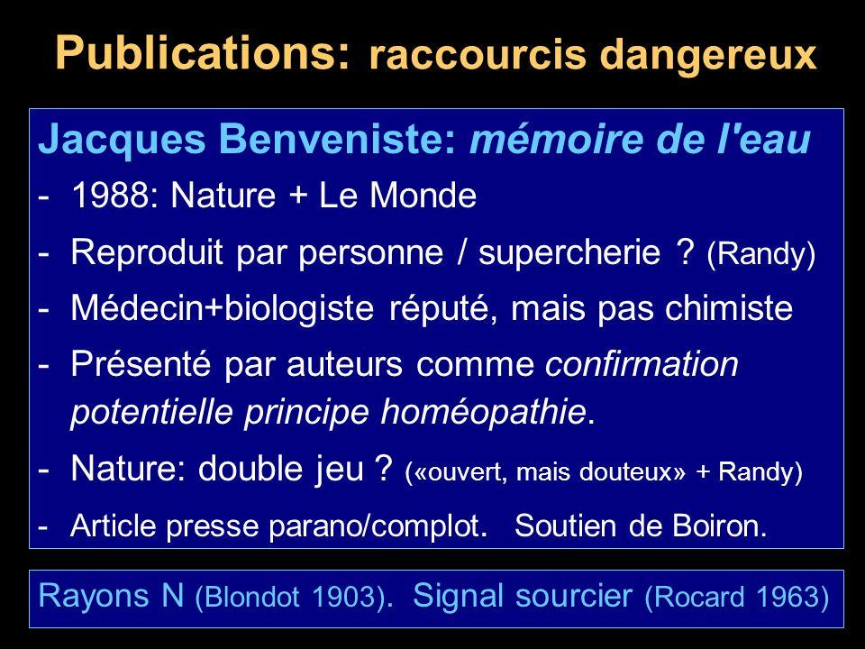 Publications: raccourcis dangereux