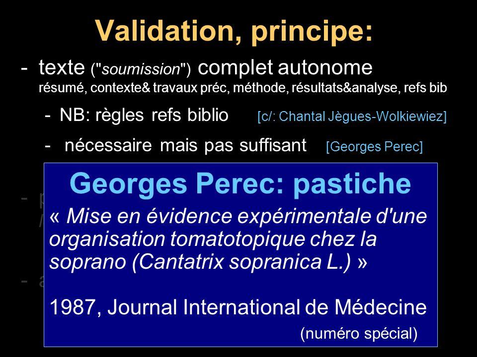 Georges Perec: pastiche