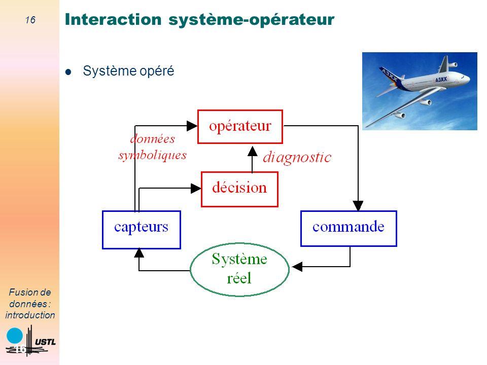 Interaction système-opérateur