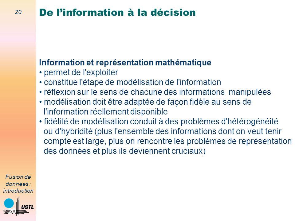 De l'information à la décision