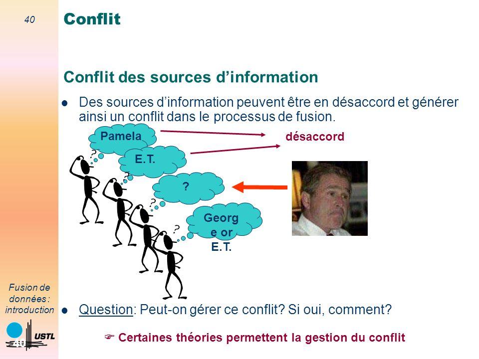 Conflit des sources d'information