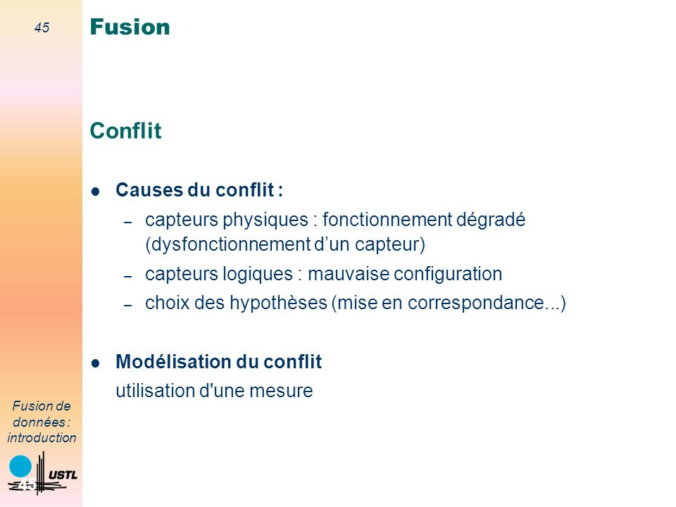 Fusion Conflit Causes du conflit :