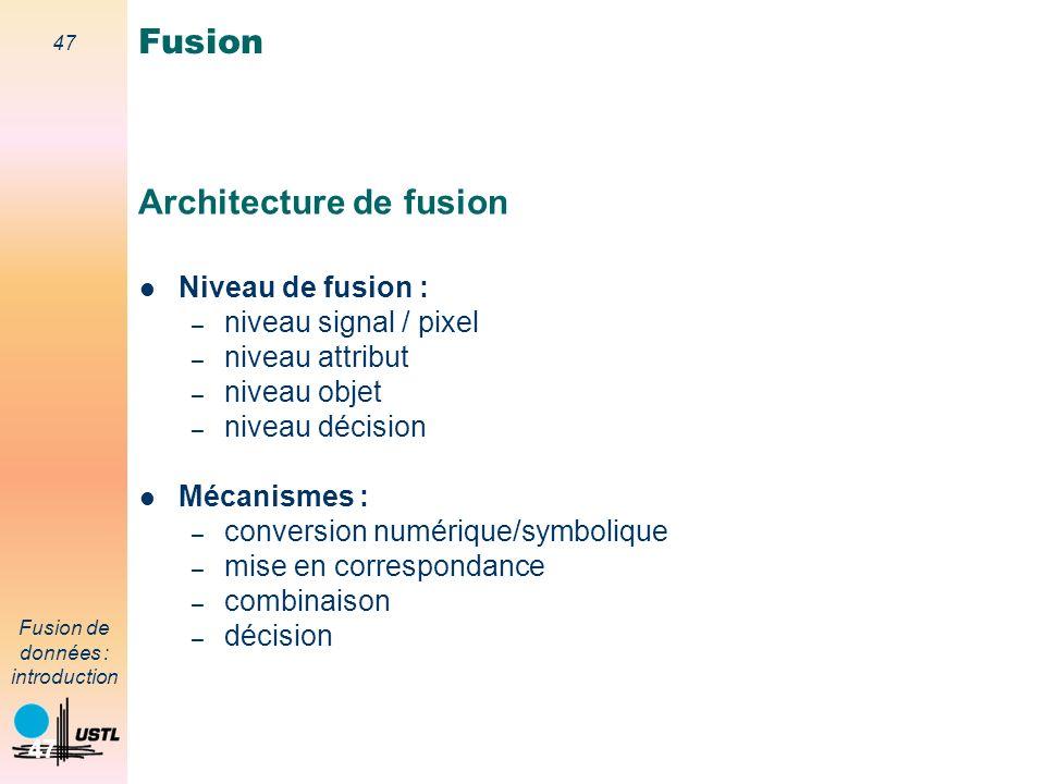 Architecture de fusion