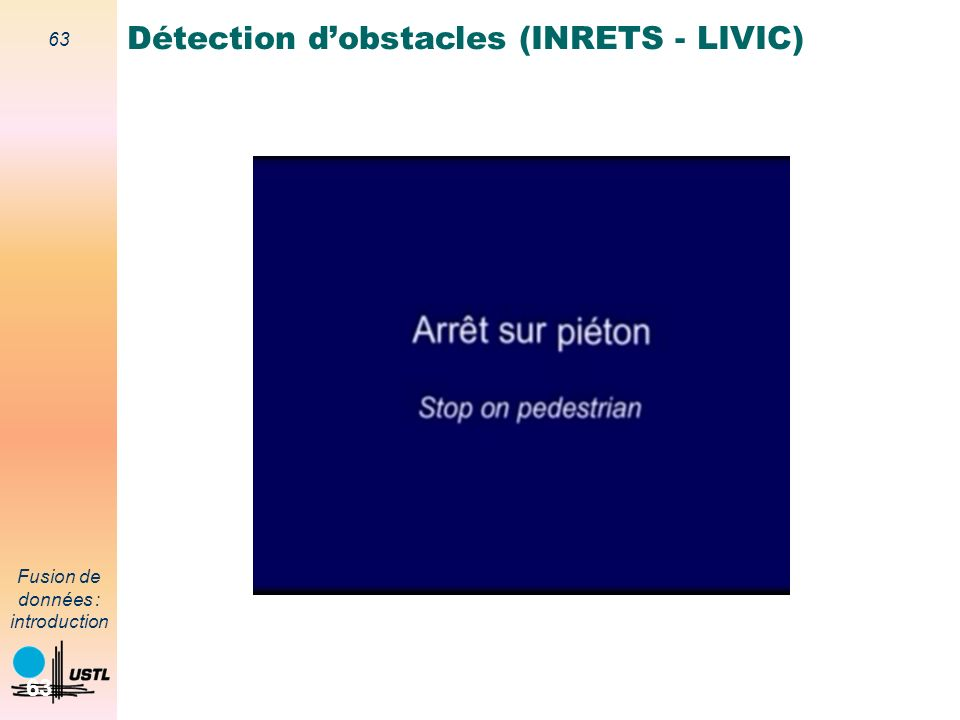 Détection d'obstacles (INRETS - LIVIC)