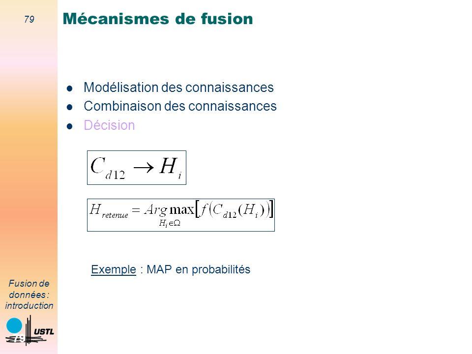 Mécanismes de fusion Modélisation des connaissances